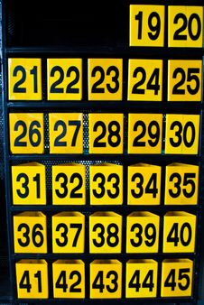Free Numbers Stock Photography - 15973652
