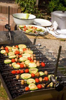Free Vegetable Kebab. Royalty Free Stock Images - 15973679