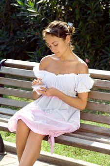Free Girl, Making Notes Royalty Free Stock Photo - 15973825