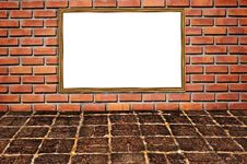 Free Brickwall Pattern And Wooden Frame Stock Photos - 15974013