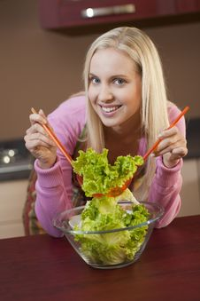 Free Preparing Salad Stock Photo - 15974490