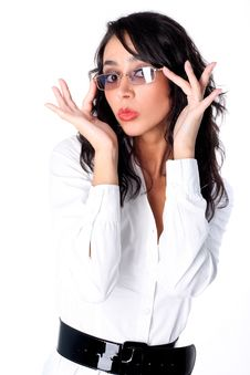 Free Businesswoman With Glasses Stock Images - 15974494