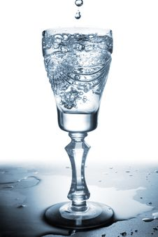 Free Water Splash In Glass Royalty Free Stock Photography - 15974507