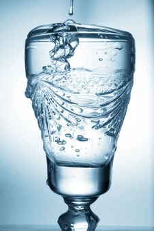 Free Flowing Water In Glass Royalty Free Stock Images - 15974519
