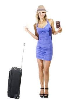 Traveling Woman Stock Photo