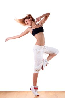 Free Woman Modern Sport Dancer Royalty Free Stock Image - 15974946