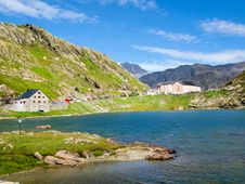 Free Saint Bernard Lake, Switzerland Royalty Free Stock Photos - 15975078