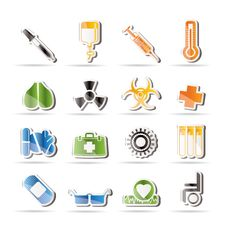 Free Collection Of  Medical Themed Icons Royalty Free Stock Photos - 15975328