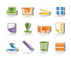 Free Print Industry Icons Stock Image - 15975341