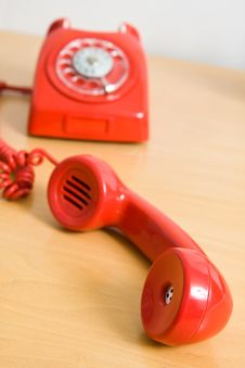 Free Vintage Red Telephone Stock Photography - 15975802
