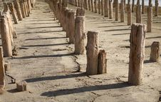 Free The Old Wooden Destroyed Columns Stock Image - 15975881