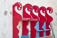 Free Red-painted Boards Arranged On A Wall Royalty Free Stock Images - 15976139