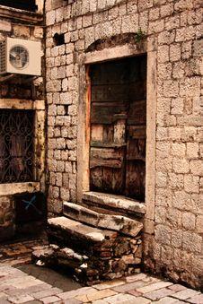 Old Street Of Kotor. Stock Photo
