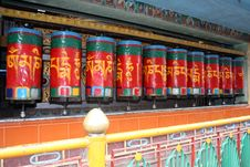 Free Buddhist Prayer Wheels Royalty Free Stock Photo - 15976325