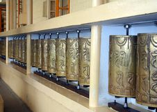 Free Buddhist Prayer Wheels Royalty Free Stock Photography - 15976337