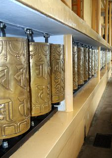 Free Buddhist Prayer Wheels Stock Photos - 15976353
