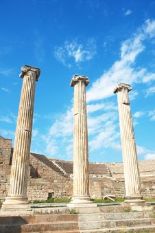 Free Ruins Of Columns In Asklepion Stock Images - 15976414