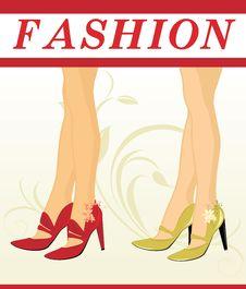 Free Stylish Female Shoes Royalty Free Stock Images - 15976509