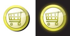 Shopping Cart Buttons Stock Photography