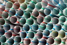 Free Colorful Straws. Stock Photo - 15976810