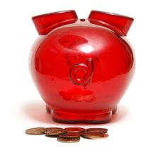 Piggy Bank Droppings Royalty Free Stock Images