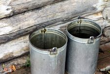 Free Filling Bucket With Water Royalty Free Stock Image - 15976966