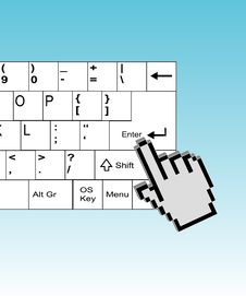 Free Hand Cursor On Enter Button Stock Images - 15977064