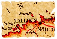 Free Tallinn, Estonia Old Map Royalty Free Stock Photo - 15977155
