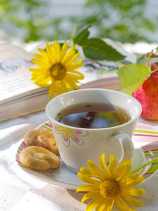 Free Tea With Cookies Royalty Free Stock Photo - 15977325