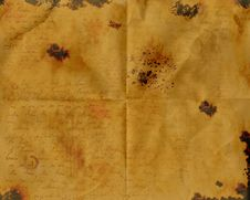 Free Burnt Stained Wrinkled Aged Paper Royalty Free Stock Images - 15977379