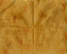 Free Aged Old Wrinkled Paper Royalty Free Stock Photos - 15977408