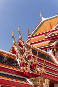 Free Thai Temple Roof Royalty Free Stock Photos - 15977478
