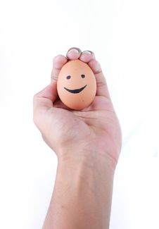 Free Hand Draw On Egg Royalty Free Stock Photography - 15977517