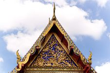 Free Thai Temple Roof Stock Photo - 15977750