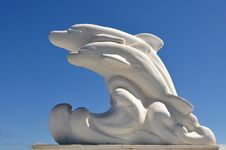 Free Marble Dolphins, Thassos,Greece, Royalty Free Stock Photo - 15978495