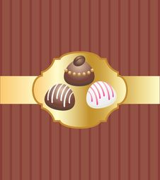 Free Card With Chocolate Candies Royalty Free Stock Images - 15979219