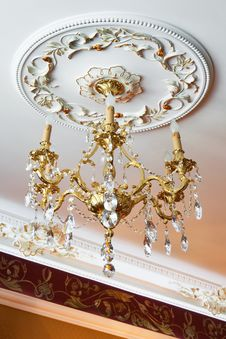 Beautiful Bronze Chandelier Stock Image