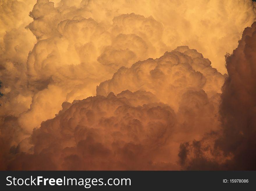 Deatil of Cumulonimbus Clouds