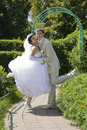 Free Groom And The Bride On Walk In Park Stock Images - 15983364