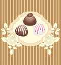 Free Card With Chocolate Candies Royalty Free Stock Photo - 15985265