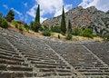 Free Ruins Of Amphitheater In Delphi, Greece Stock Photos - 15986023