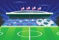 Free Soccer Stadium And Detailed Tribune. Stock Photography - 15986772