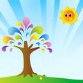 Free Colorful Day With Colorful Tree Royalty Free Stock Photo - 15987695