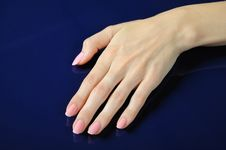 Free Beautiful Hands With Perfect Nail Pink Manicure Stock Photos - 15980023
