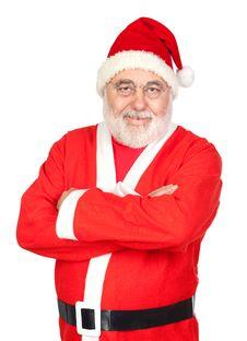 Portrait Of Santa Claus Royalty Free Stock Photos