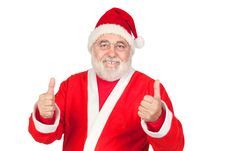 Free Funny Santa Claus Saying OK With His Thumbs Stock Photo - 15980630