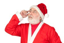 Free Thoughful Santa Claus Royalty Free Stock Images - 15980829
