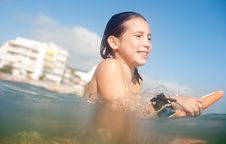 Free Girl Surfing Stock Photos - 15981223