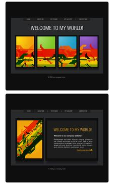 Free Website Template Stock Photography - 15981402