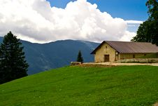 Free Chalet Atop A Mountain In Trentino Stock Photos - 15981463